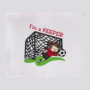 Im A Keeper Throw Blanket