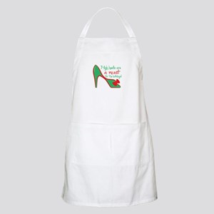 High heels are a must for the holidays ! Apron