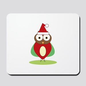 Christmas Owl Mousepad