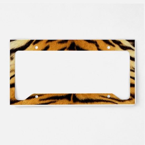 Tiger Fur Print License Plate Holder
