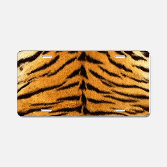 Tiger Fur Print Aluminum License Plate