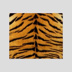 Tiger Fur Print Throw Blanket