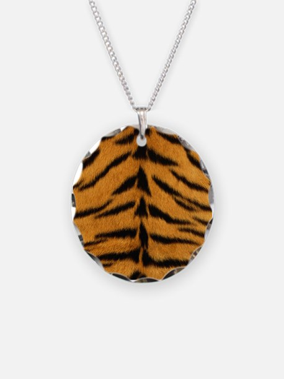 Tiger Fur Print Necklace