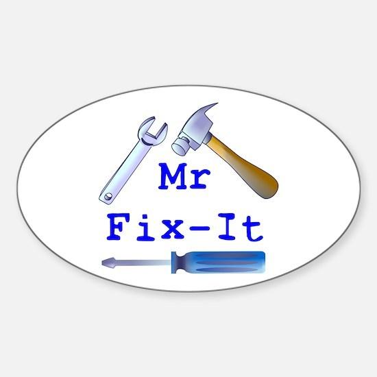 Mr Fix It Oval Decal