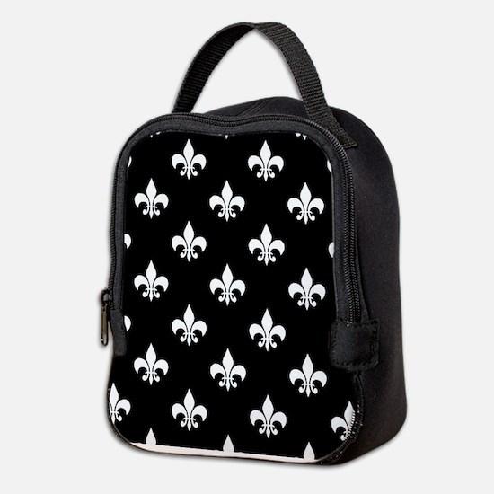Cute Womens fleur de lis Neoprene Lunch Bag