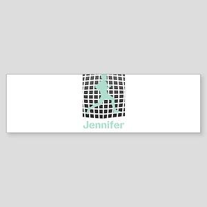 Mint Jogging Personalized Sticker (Bumper)