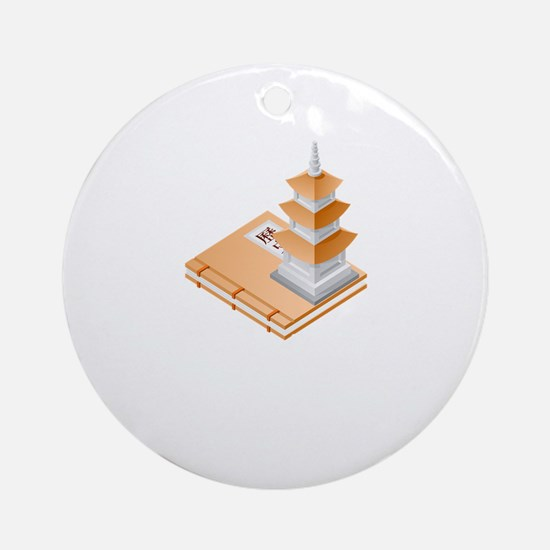 Chinese Temple Book Ornament (Round)