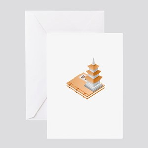 Chinese Temple Book Greeting Cards