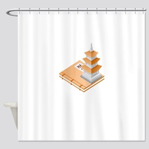 Chinese Temple Book Shower Curtain
