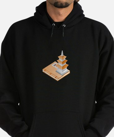 Chinese Temple Book Hoodie