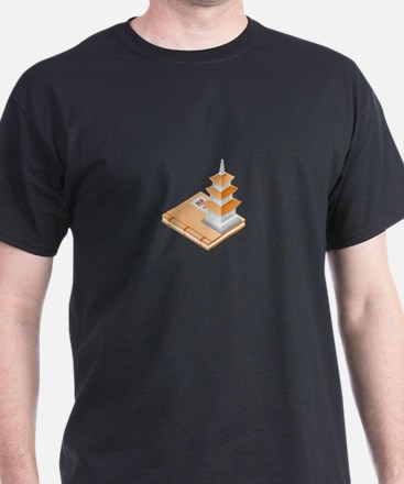 Chinese Temple Book T-Shirt