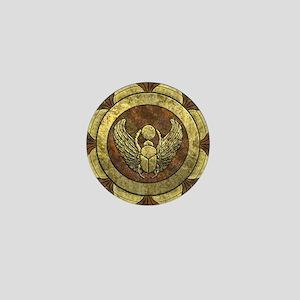 Golden Scarab Mini Button