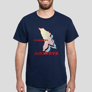 Moldova Map Dark T-Shirt
