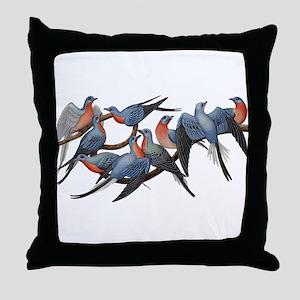 Passenger Pigeons Throw Pillow