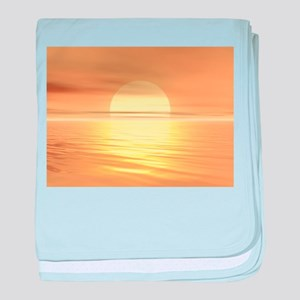 Big Sunset baby blanket