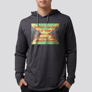 Behind the Dog Mens Hooded Shirt