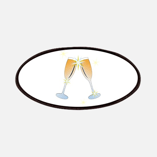 Champagne Toast Patches