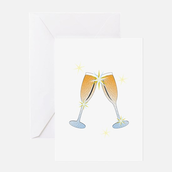 Champagne Toast Greeting Cards