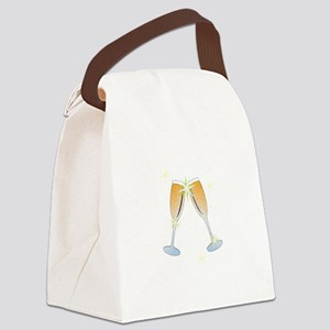 Champagne Toast Canvas Lunch Bag
