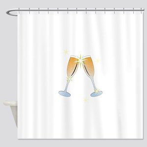 Champagne Toast Shower Curtain