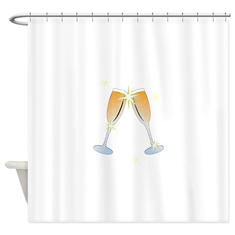 Champagne Toast Shower Curtain by Windmill8