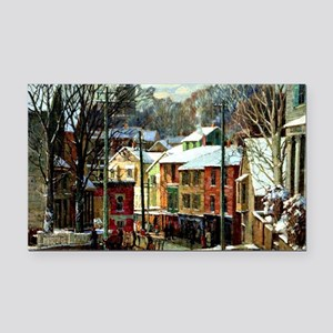 Winter in Gloucester Rectangle Car Magnet