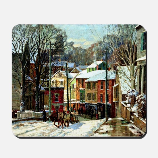 Winter in Gloucester Mousepad