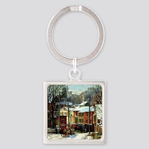 Winter in Gloucester Square Keychain