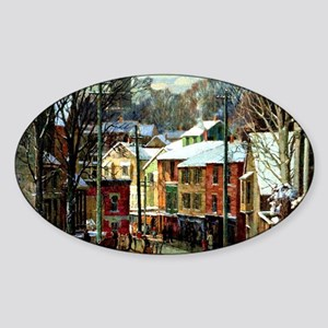Winter in Gloucester Sticker (Oval)