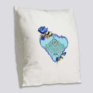 Aries Burlap Throw Pillow