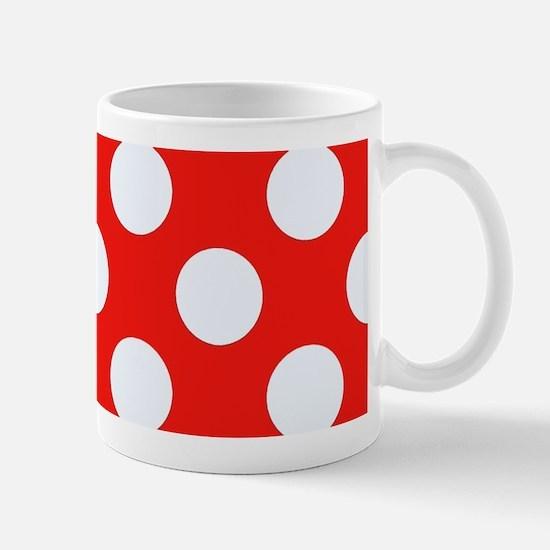Retro Red Polkadots Mugs