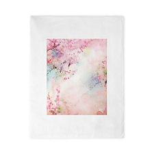 Pink Watercolor Floral Twin Duvet