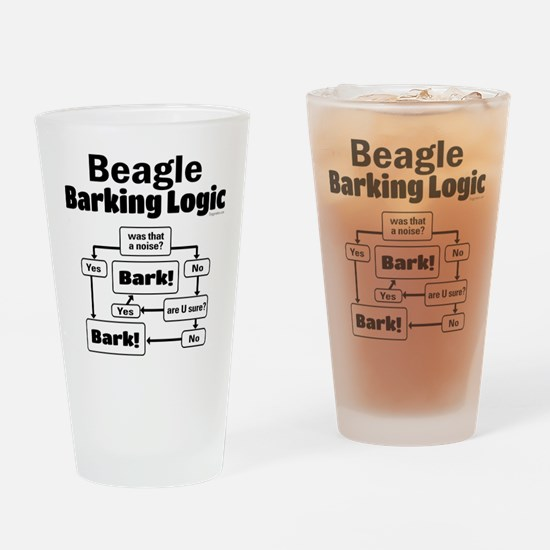 Beagle Logic Drinking Glass