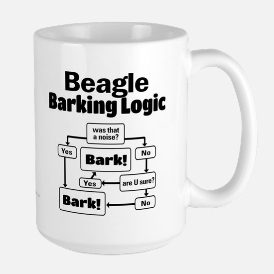 Beagle Logic Large Mug