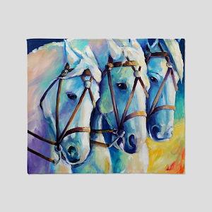 Circuc Horses Throw Blanket