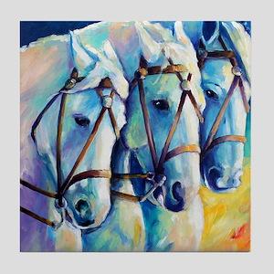 Circuc Horses Tile Coaster