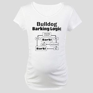 Bulldog logic Maternity T-Shirt