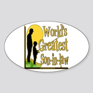 World's Greatest Son-in-law Oval Sticker