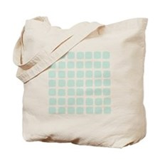 Mint Checked Pattern Tote Bag