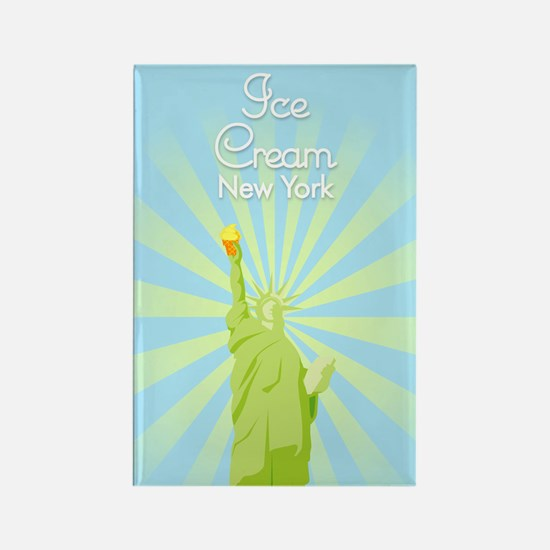 Ice Cream New York Rectangle Magnet