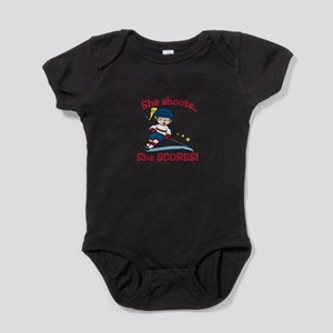 She Scores Baby Bodysuit