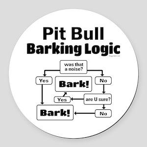 Pit Bull logic Round Car Magnet