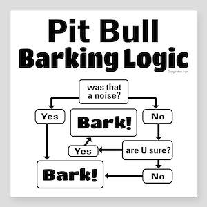 """Pit Bull logic Square Car Magnet 3"""" x 3"""""""