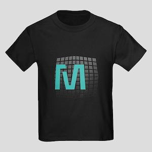 Cool Fun Giant Monogram Kids Dark T-Shirt