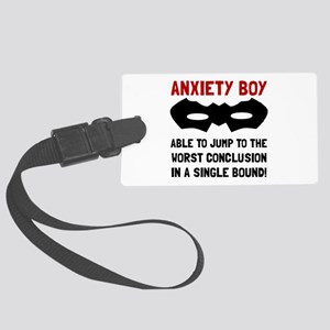 Anxiety Boy Luggage Tag