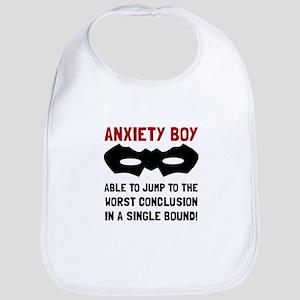 Anxiety Boy Bib