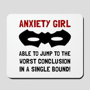 Anxiety Girl Mousepad