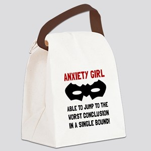 Anxiety Girl Canvas Lunch Bag
