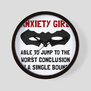 Anxiety Girl Wall Clock