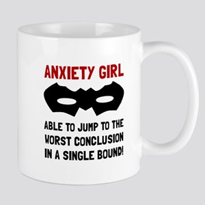 Anxiety Girl Mugs